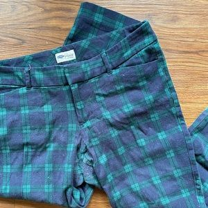 Gingham patterned cropped dress pant